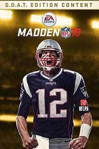 Carátula del juego Madden NFL 18 G.O.A.T. Edition Upgrade