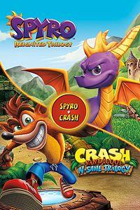 Carátula para el juego Spyro + Crash Remastered Game Bundle de Xbox 360