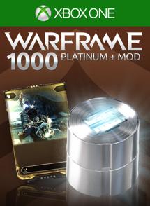 Warframe®: 1000 Platinas + Mod Raro