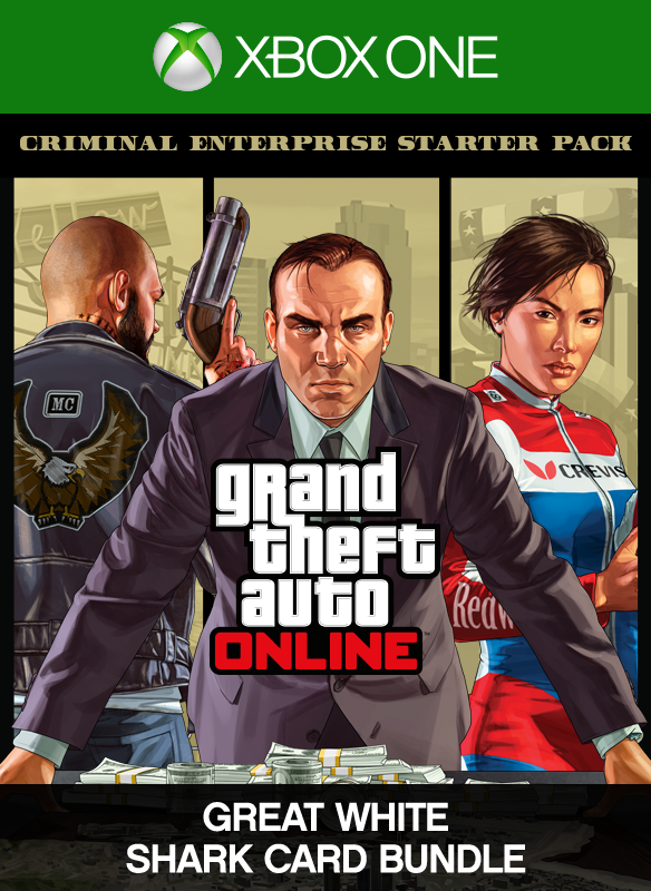 Lote de Criminal Enterprise Starter Pack y tarjeta Gran tiburón blanco boxshot