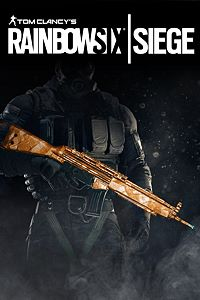 Carátula del juego Tom Clancy's Rainbow Six Siege: Topaz weapon skin