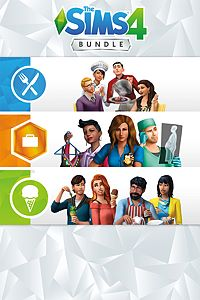 Carátula del juego The Sims 4 Bundle - Get to Work, Dine Out, Cool Kitchen Stuff