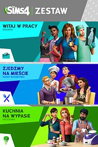 The Sims™ 4 Bundle – Witaj w Pracy, Zjedzmy na mieście, Kuchnia na wypasie Akcesoria