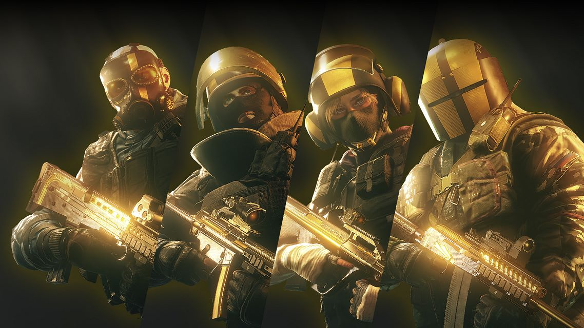 Tom Clancy'S Rainbow Six Siege: Pro League All Gold Sets on
