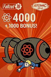 Carátula del juego Fallout 76: 4000 (+1000 Bonus) Atoms