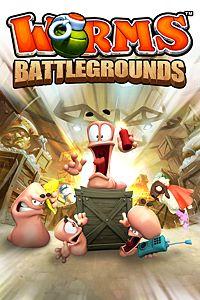 Carátula del juego Worms Battlegrounds de Xbox One