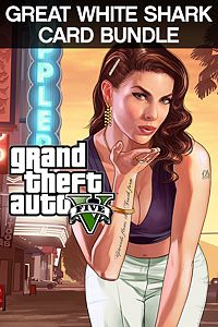 Carátula para el juego Grand Theft Auto V & Great White Shark Cash Card de Xbox 360