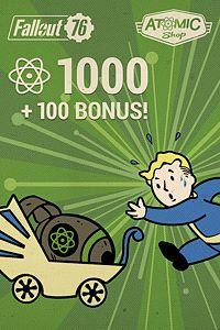 Carátula del juego Fallout 76: 1000 (+100 Bonus) Atoms