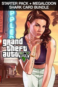 Carátula para el juego GTAV, Starter Pack and Megalodon Shark Card Bundle de Xbox One
