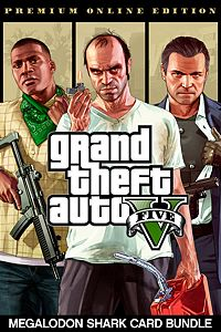 Carátula del juego Grand Theft Auto V: Premium Online Edition & Megalodon Shark Card Bundle
