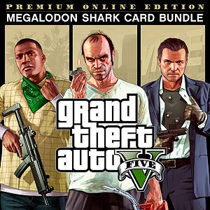 Bundle Grand Theft Auto V: Premium Online Edition + carta prepagata Megalodon shark Xbox One