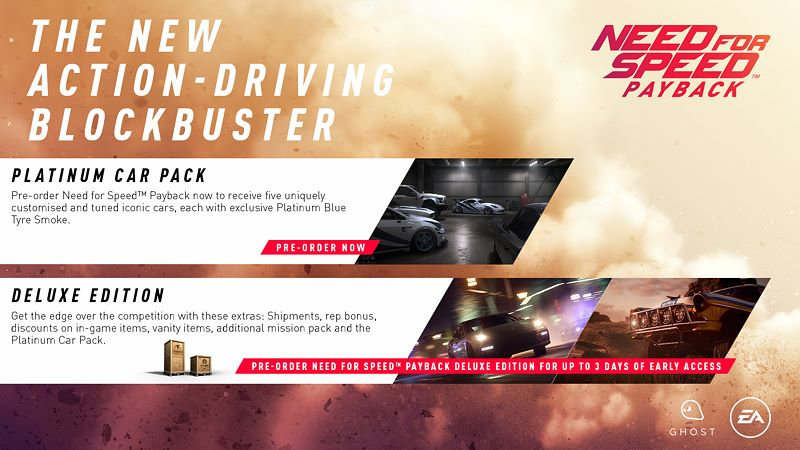need for speed payback announced launching in november on msft. Black Bedroom Furniture Sets. Home Design Ideas