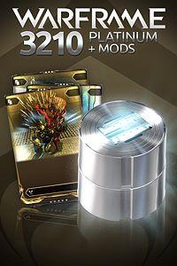 Carátula del juego Warframe: 3210 Platinum + Triple Rare Mods