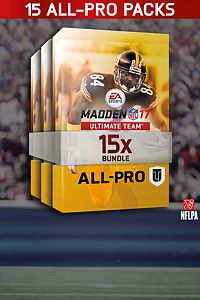 Carátula del juego Madden NFL 17 15 All Pro Pack Bundle