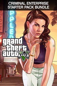 Carátula para el juego Grand Theft Auto V and Criminal Enterprise Starter Pack Bundle de Xbox One