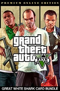 Carátula del juego Grand Theft Auto V: Premium Online Edition & Great White Shark Card Bundle