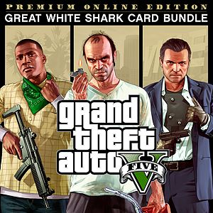 Grand Theft Auto V: Premium Online Edition & Great White Shark Card Bundle Xbox One