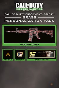 Carátula del juego Call of Duty: Modern Warfare Remastered C.O.D.E. Brass Pack