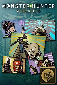 Carátula del juego Sticker Set: MH All-Stars Set