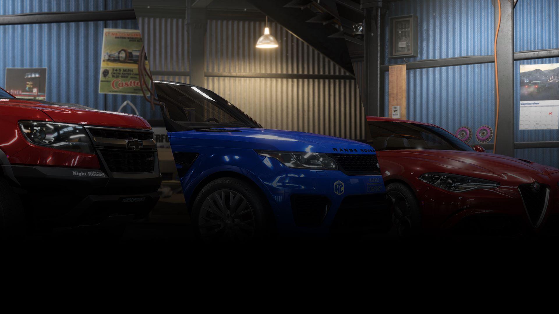 Need for Speed™ Payback: Conjunto do Chevrolet Colorado ZR2, Range Rover Sport SVR e Alfa Romeo Quadrifoglio