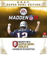 Carátula del juego Madden NFL 18: G.O.A.T. Super Bowl Edition