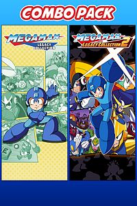 Carátula del juego Mega Man Legacy Collection 1 & 2 Combo Pack de Xbox One