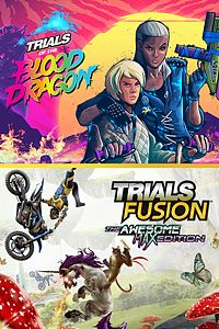 Carátula del juego TRIALS OF THE BLOOD DRAGON + TRIALS FUSION AWESOME MAX EDITION para Xbox One