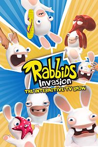 Carátula para el juego Rabbids Invasion : The Interactive TV Show de Xbox 360