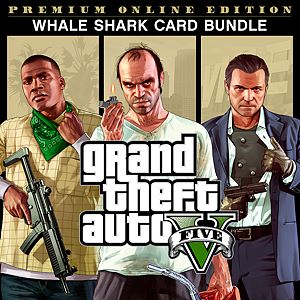 Grand Theft Auto V Premium Online Edition Whale Shark Card Bundle