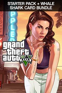 Carátula para el juego GTAV, Starter Pack and Whale Shark Card Bundle de Xbox One