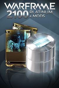 Carátula del juego Warframe: 2100 Platinum + Dual Rare Mods