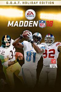 Carátula para el juego MADDEN NFL 18: G.O.A.T. Holiday Edition de Xbox 360