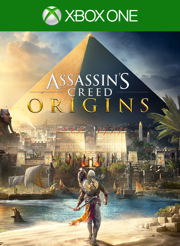 Imagem da caixa do Assassin's Creed Origins