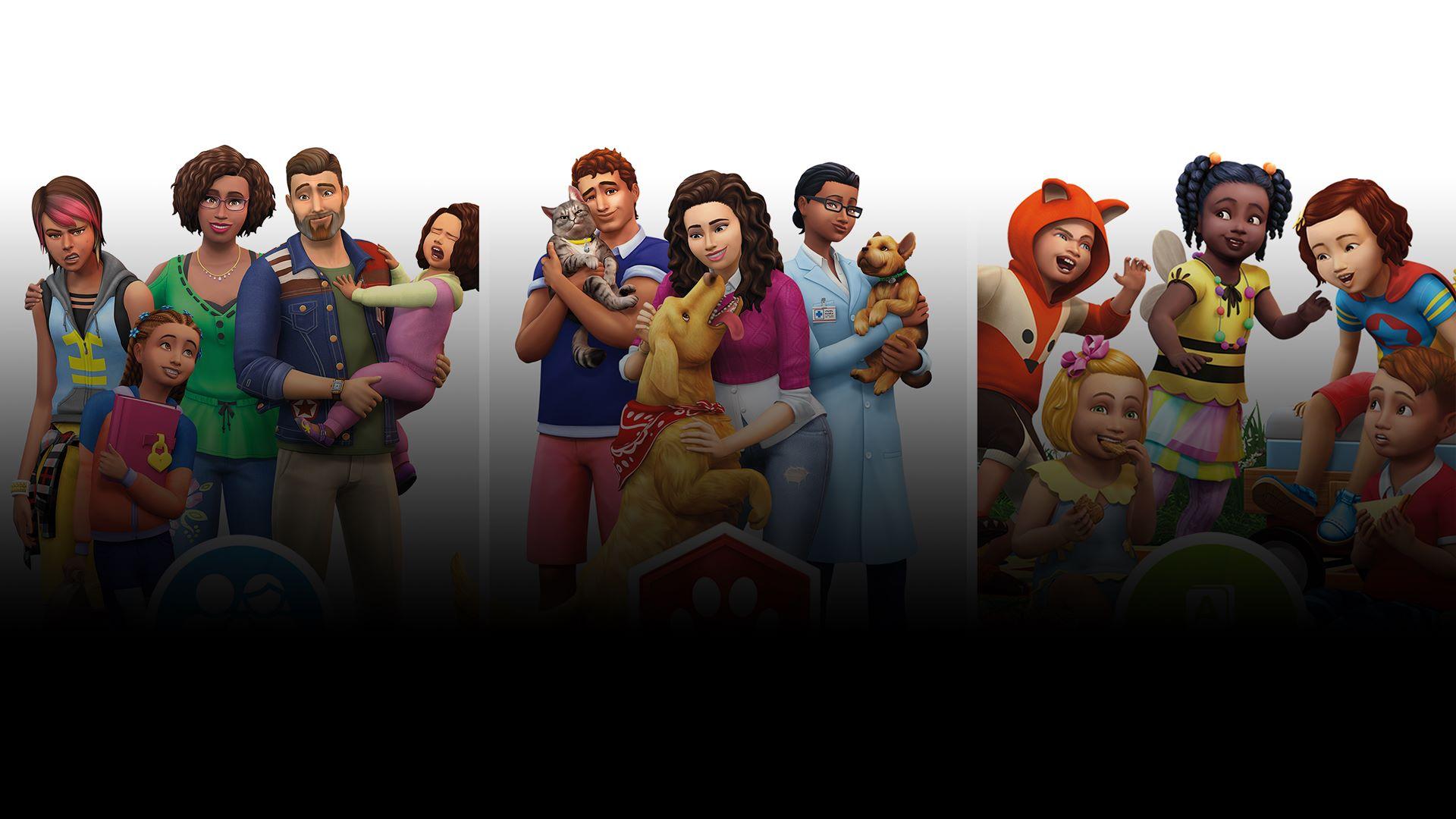 Die Sims 4 Bundle Hunde Katzen Elternfreuden Kleinkind