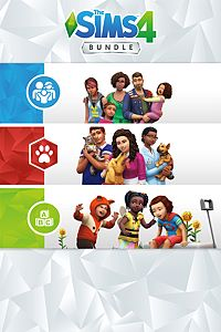 Carátula del juego The Sims 4 Bundle - Cats & Dogs, Parenthood, Toddler Stuff