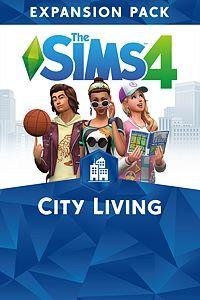 Carátula del juego The Sims 4 City Living para Xbox One