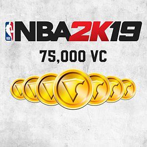 NBA 2K19 75,000 VC Xbox One