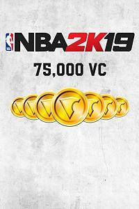 Carátula para el juego NBA 2K19 75,000 VC de Xbox 360