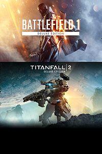 Carátula del juego Battlefield 1 - Titanfall 2 Deluxe Bundle de Xbox One
