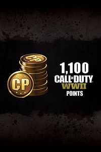 Carátula del juego 1,100 Call of Duty: WWII Points