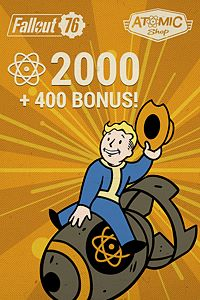 Carátula del juego Fallout 76: 2000 (+400 Bonus) Atoms