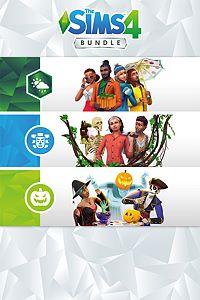 Carátula del juego The Sims 4 Bundle - Seasons, Jungle Adventure, Spooky Stuff
