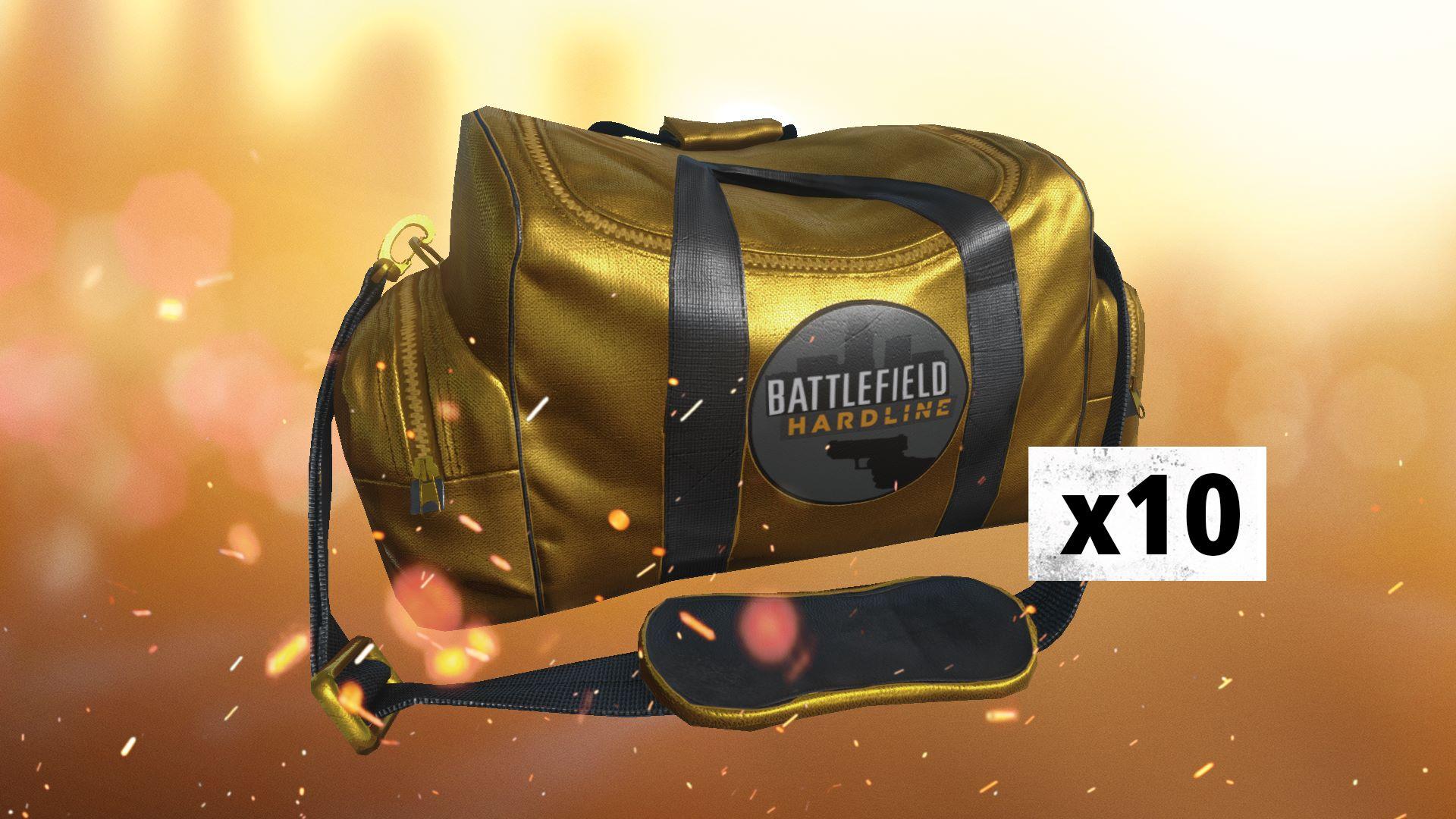 Battlefield Hardline 10 X Gold Battlepacks