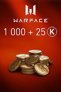 Carátula del juego Warface - 1000 Kredits