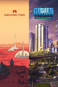 Carátula del juego Cities: Skylines + Surviving Mars para Xbox One