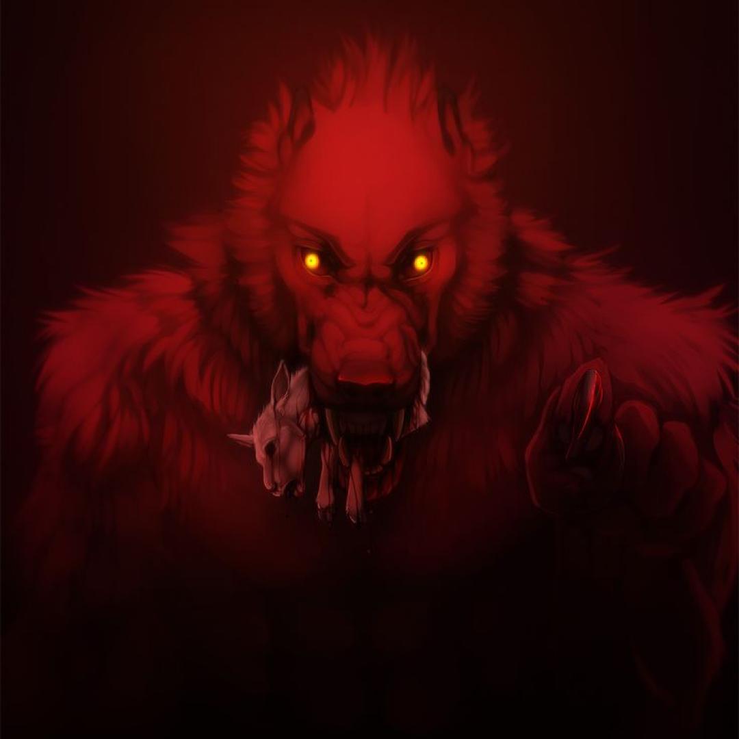 A Red Werewolf